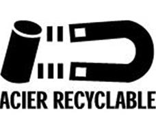 acier recyclable, logo recyclage, récup estrie