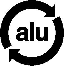 logo aluminium recyclable, symbole recyclage, récup estrie