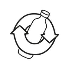 verre recyclage, symbole recyclage, récup estrie