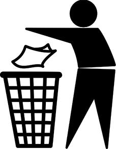 tidyman, logo recyclage, récup estrie