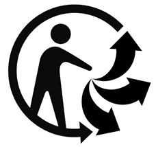 triman, logo recyclage, récup estrie
